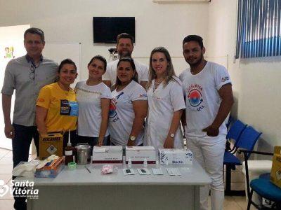 Profissionais da SMS recebem capacitação para realizarem Testes Rápidos de HIV, Sífilis e Hepatites B e C em Santa Vitória
