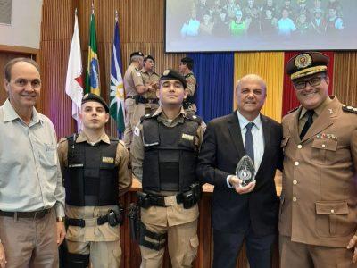 Salim Curi participou em Uberlândia da celebração de 22 anos da 9ª Região da Polícia Militar