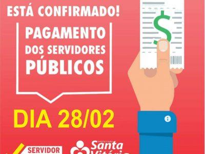 Administração Municipal anuncia pagamento para o dia 28, já com reajuste em salários dos servidores