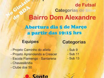 Vem aí a Copa Intermunicipal de Futsal Categoria de Base