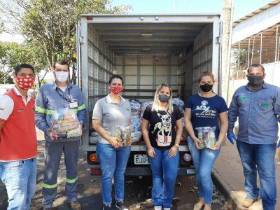 Empresa ERB e seus colaboradores promovem a doação de cestas básicas